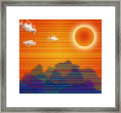 Framed Print featuring the digital art Southwestern by Bruce Rolff