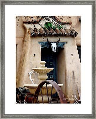 Southwestern Doorway Framed Print by Jayne Kerr