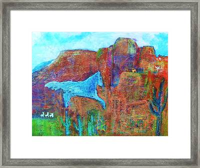 Southwestern Dreamscape  Framed Print by Anne-Elizabeth Whiteway