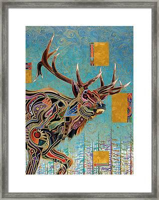 Southwestern Elk Framed Print by Bob Coonts