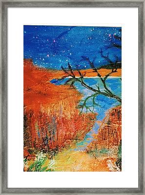 Southwestern Image II Framed Print by Anne-Elizabeth Whiteway