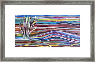 Southwestern Landscape  Framed Print by Fatima Neumann