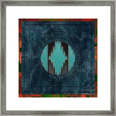 Southwestern Native American Mandala Framed Print