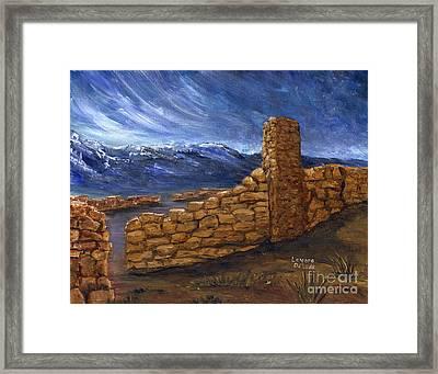 Southwestern Night Landscape Rock Ruins Framed Print