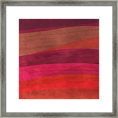 Southwestern Sunset Abstract Framed Print