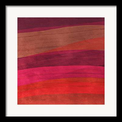 Warm Colors Abstract Framed Prints