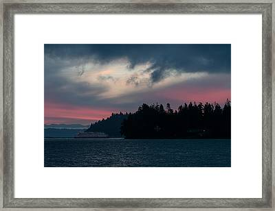 Southworth Ferry Run At Dawn Framed Print