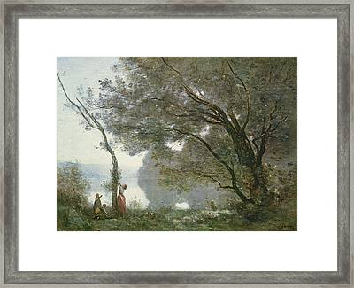 Souvenir De Mortefontaine Framed Print by Jean Baptiste Camille Corot
