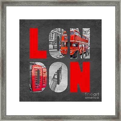Souvenir Of London Framed Print by Delphimages Photo Creations