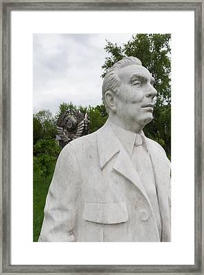 Soviet-era Sculpture Of Alexei Kosygin Framed Print by Panoramic Images