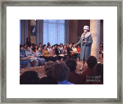 Soviet Fashion Show In Moscow 1961 Framed Print