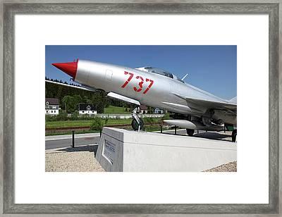 Soviet Mig-21 Framed Print by Detlev Van Ravenswaay