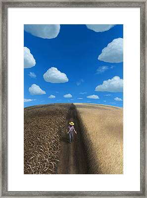 Framed Print featuring the digital art Sow And Reap by Ben Hartnett