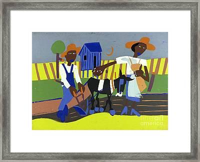 Sowing Framed Print
