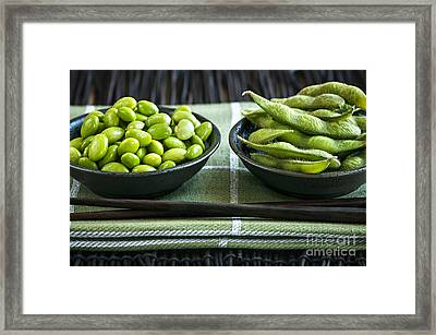 Soy Beans In Bowls Framed Print