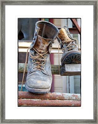 Sp Boots Framed Print