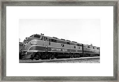 Sp Coast Daylight Train Framed Print by Underwood Archives