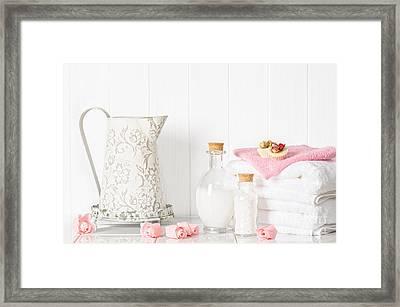 Spa Setting Framed Print