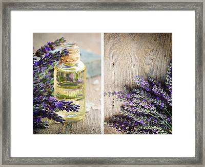 Spa With Lavender  Framed Print