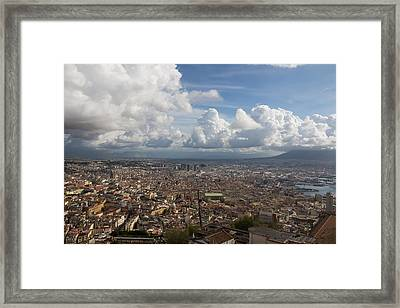 Spaccanapoli - The Historic Main Street That Divides The Center Of Naples Italy Framed Print