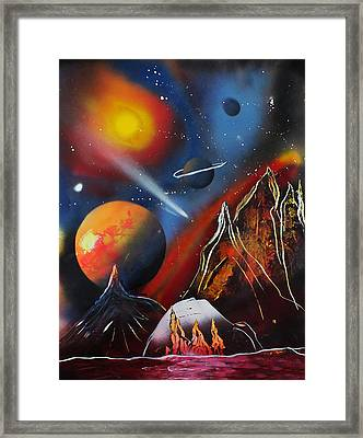Space 016 Framed Print by Frank Carter
