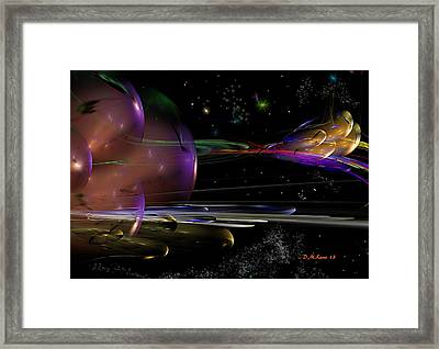 Space Abstraction Framed Print by David Lane