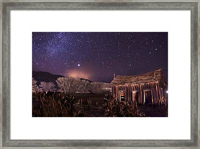 Space And Time Framed Print by Cat Connor