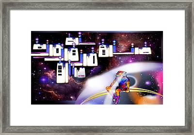 Space  City Framed Print