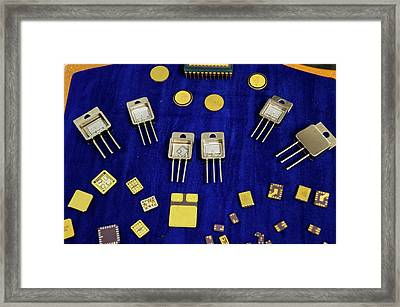 Space Components Framed Print