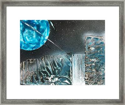 Space-fall Framed Print