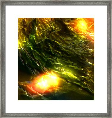 Space Fall Framed Print
