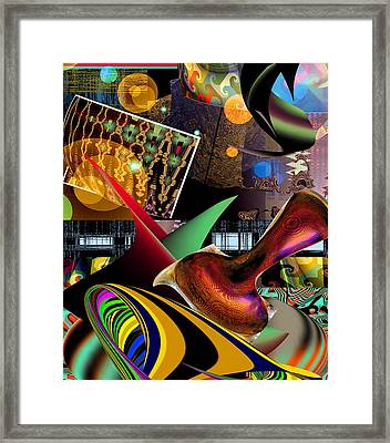 Space Flower Framed Print by Rick Wolfryd