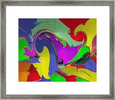 Framed Print featuring the mixed media Space Interface by Carl Hunter