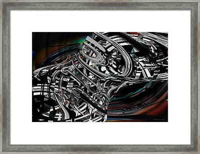 Space Junk Framed Print