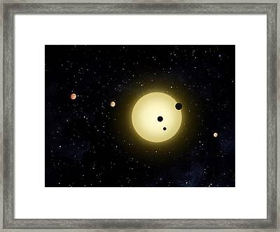 Space Kepler 11 Introduction Framed Print by Movie Poster Prints
