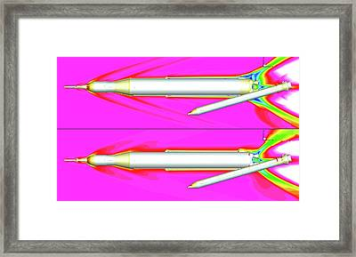 Space Launch System Simulations Framed Print by Nasa/ames (jeffrey Housman)