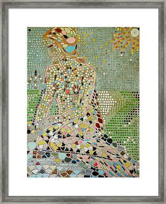 Space Mermaid Framed Print by AnnaJo Vahle