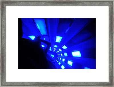 Space Mountain Blast Off Framed Print by David Lee Thompson