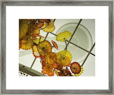 Space Needle And  Chilhuly Glass Framed Print