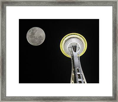 Space Needle Framed Print by David Gleeson
