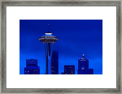 Space Needle Heights Framed Print