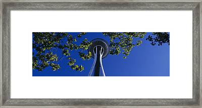 Space Needle Maple Trees Seattle Center Framed Print by Panoramic Images
