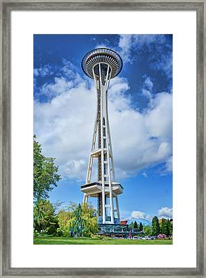 Space Needle - Seattle Washington Framed Print by Nikolyn McDonald