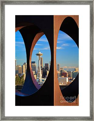 Space Needle View Framed Print