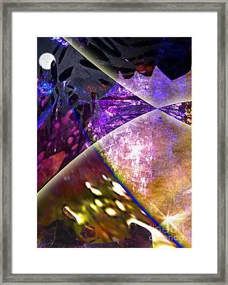 Space Night Framed Print