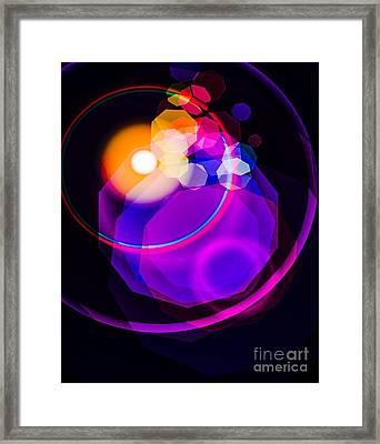 Space Orbit Framed Print by Gayle Price Thomas