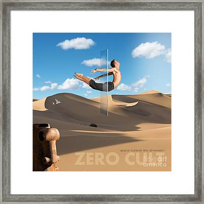 Space Outside The Dimension Framed Print