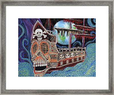 Space Pirates Framed Print by Laura Barbosa