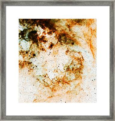 Space Rust Framed Print by The  Vault - Jennifer Rondinelli Reilly