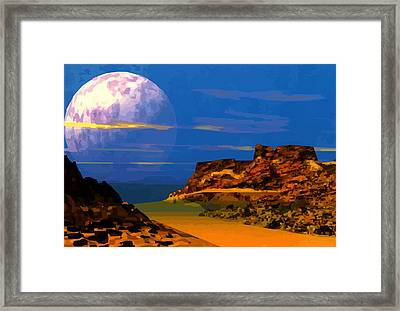 Space Scape Framed Print